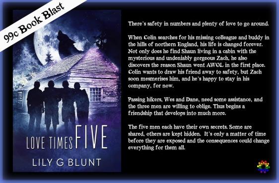 LOVE TIMES FIVE BLURB book blast